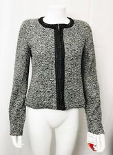 Sinequanone Bolero Jacket Cropped Black White Tweed Chain Trim size Medium New