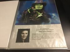 Wicked The Musical London Nikki Davis-Jones A4 Standby/Played By Sheet/Card