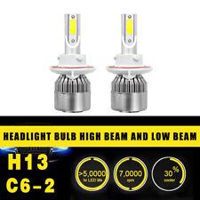 2pcs H13 Headlight Coversion LED Light Bulb Kit High&Low Beam White 650W 97500LM