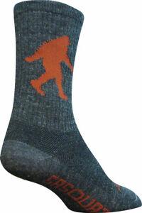 SockGuy Wool Sasquatch Socks 6 inch Gray Large X-Large Unisex Synthetic