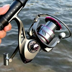 Spinning Fishing Reel Roller Coil Metal Spool 13 BB 5.2:1 High Speed Left Right