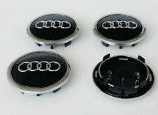 4x69mm Audi Black Wheel Center Caps Hubcaps Emblems Rim Caps Badges 4B0 601 170A