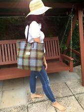 Harris tweed tote, blue tote, tartan tote, Harris tweed bag, women gift,