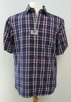 Ex M&S REGULAR FIT EASY CARE SOFT TOUCH SHORT SLEEVE CHECK SHIRT S M L XL XXL