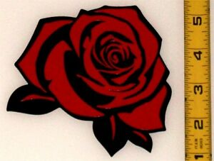 "Beautiful Rose! High Quality, High Gloss 4.5"" x 4.5"" Vinyl Decal!"