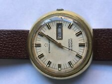 SWISS GOLD PLATED MEN'S ETERNA MATIC AUTOMATIC WATCH 1960'S DAY AND DATE