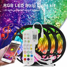 LED Strip Lights 50ft Sync Music 5050 RGB Lights Bluetooth APP Remote Waterproof