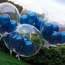 25.4cm & 45.7cm Transparent Ballons en Latex Mariage Anniversaire Confettis