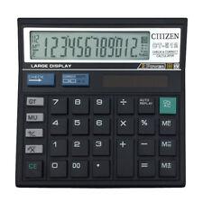 Calculator Battery Solor Powered 12 Digit Electronic Desktop Calculator RST
