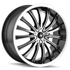 "4-Mazzi 351 Hype 20x8.5 5x112/5x120 +40mm Black/Machined Wheels Rims 20"" Inch"