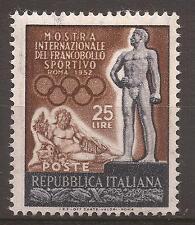 1952 FRANCOBOLLO SPORTIVO L. 25 MNH** CON 2 VARIETA' DI RIP. n° 180Gf + LETTERE