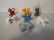 Lego Duplo Cats Kittens Animals Complete Lot Set of 7    RARE      Collectible
