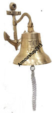 Nautical Door Hanging Bell Boat Ship Anchor Shiny Brass Bell Collectible Gift
