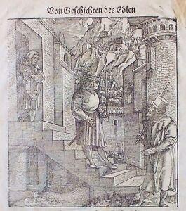 """Hans Schäufelein, Holzschnitt aus """"Teuerdank""""  Deutsche Ausgabe von 1563 (1799)"""