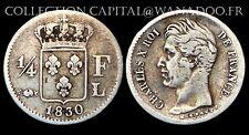 1/4 Franc 1830 L (Bayonne) Charles X°. Argent. Cote TTB: 300€