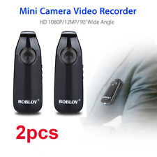 2x HD 1080P Mini Camcorder Dash Cam Police Body Motorcycle Bike Camera WideAngle