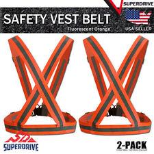 2 Pack Adjustable Safety Night Running High Visibility Reflective Vest Belt