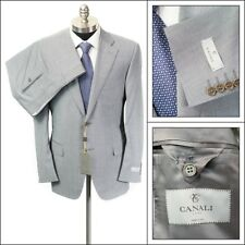 $1995 NWT CANALI 1934 Water Resistant Gray Striped Wool 2Btn Suit 52 6R 42 R