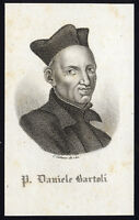 Antique Print-PORTRAIT-DANIELLO BARTOLI-JESUIT WRITER-Cattaneo-1800