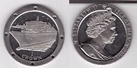 ISLE OF MAN – 1 CROWN UNC COIN 2004 YEAR SHIP QUEEN MARY