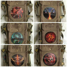 Stunning New Anne Stokes Unisex NEW Khaki Age of Dragons 3D Side Bags -6 Designs