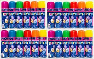 6 Colors 250ml Party String Spray 24 Can Party Wedding Birthday Special Events
