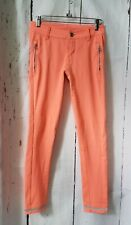 Lululemon Out and About Pant Pop Orange Coral Neon Reflective Trouser Size 2 EUC