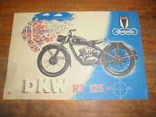 Prospekt Sales Brochure DKW RT 125  Motorrad Bike Roller Moped Mokick