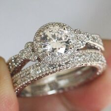 2.02CT ROUND SOLITAIRE DIAMOND ENGAGEMENT RING WEDDING BAND 14CT WHITE GOLD