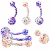Crystal Belly Bar Body Piercing Jewellery Boho Button Ring Quality Navel Bar 187