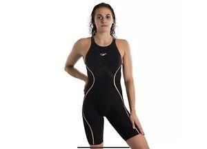 NEW — Womens 24 — Speedo Fastskin LZR Pure Intent — Open Back Kneeskin Tech Suit