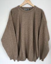 Merinomink $299 New Zealand Tan Crew Neck Merino Wool Possum Sweater Size Xl