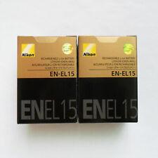 2 x Nikon EN-EL15 Battery For Nikon D7000 D7100 D7200 D800 D800E D810 D750 V1