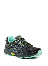 NIB Women ASCS GEL-Venture 6 Trail Running Shoes Sneakers Black/Carbon/Lime 8.5
