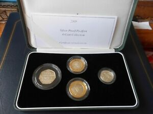 ROYAL MINT 2005 SILVER PROOF PIEDFORT 4 COIN SET