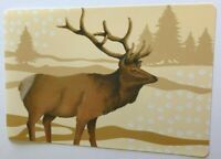 Deer Stag Vinyl Placemats Wilderness Lodge Cabin Camp Rustic Country Set of 4