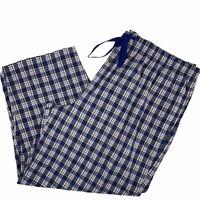 Cremieux Woven Blue Brown Plaid Check Lounge Pajama Pants Mens Big Tall Size 4XB