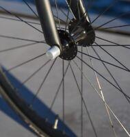 """Antifurto cerchio ruota bici Abus NutFix 3/8"""" Argento Solido Assale bicicletta"""
