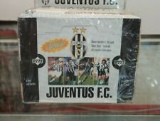 1998 Upper Deck Juventus FC Hobby Caja de cera (30 paquetes) Raro Tarjetas de fútbol italiano