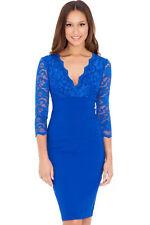 Lace V-Neck Party Regular Size Dresses for Women