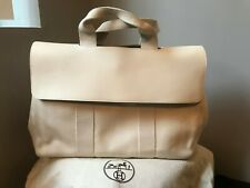 HERMES VALPARAISO CANVAS IVORY TOTE BAG LEATHER FLAP BRAND NEW! AUTHENITIC 7beafba069c53