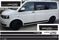 VW T4 T5 T6 BUS Edition 25 PEGATINA kit pegatinas RAYAS LATERALES COLOR DESEADO