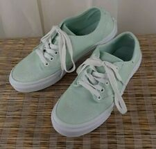 women's VANS Mint Green Classic Lace-Up Sneakers Shoes size 7