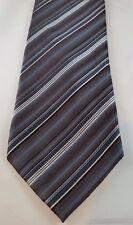 VAN HEUSEN Men's Neck Tie NWOT Black/Silver/Gray Striped Necktie
