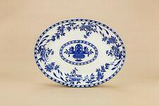 1920 Large Serving Platter Blue White Floral Delph Dish Cheese Vintage Antique