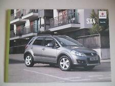 SUZUKI SX4 2011 RANGE CAR BROCHURE. 1.6 PETROL SZ3 SZ4 SZ5 4WD, 2.0 DDiS DIESEL