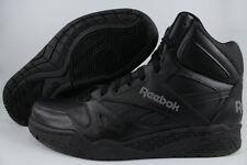 REEBOK ROYAL BB4500 HIGH HI WIDE E BLACK/GRAY CLASSIC BASKETBALL LEATHER MENS SZ