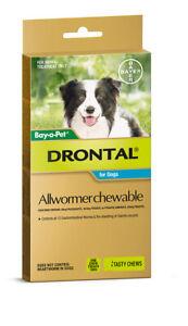 Drontal Allwormer for Dogs Dog Worming Wormer Dog Wormer Medium Dog 10kg