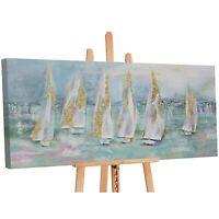 100% Handgemalt Acryl Gemälde handgemaltes Wand Bild Kunst Leinwand Segelboote