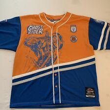 Vintage Marvel Johnny Blaze Ghost Rider Jersey Orange Blue Throwback Series Xl👀